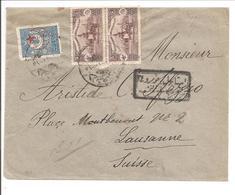 Stamboul>Suisse 6.1.17 Censor-Censure-Zensur - 1858-1921 Osmanisches Reich