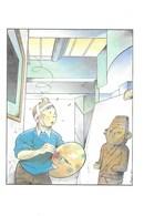 CARTE POSTALE TINTIN DESSINATEUR SOMON OREILLE COUPEE - Cartes Postales