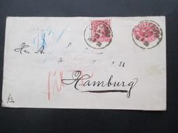 Schweden 1888 Ganzsachenumschlag U4 Mit Zusatzfrankatur Nach Hamburg Gesendet Mit Ak Stempel - Schweden