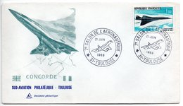 Enveloppe 1er Jour / 7 ème Salon Aéronautique    / Concorde / Toulouse / 21 Juin 1969 - FDC