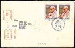 Argentina/Argentine: FDC, Raccomandata, Registered, Recommandé, Giovanni Paolo II, John Paul II, Jean-Paul II - Papi