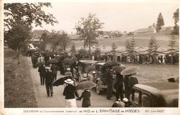 ERMITAGE DE MIEGES . COURONNEMENT SOLENNEL . 20 Juin 1937 . LA FOULE VOITURES - France