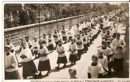 ERMITAGE DE MIEGES . COURONNEMENT SOLENNEL . 20 Juin 1937 . LE DEFILE DES RELIGIEUX - France