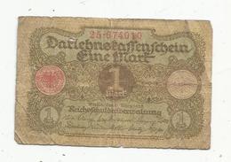 JC , Billet , ALLEMAGNE ,1920 ,Berlin,1 ,eine Mark , 2 Scans - [ 3] 1918-1933: Weimarrepubliek