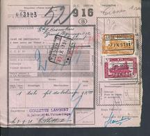 BELGIQUE DOCUMENT SUR TIMBRES CHEMIN DE FER TAMPON TIENEN X LIÉGE : - Railway