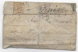GUERRE 1870 - 2 FEV.1871 ! LETTRE De CHARTRES - CACHET ALLEMAND+DOUBLE TAXE => GARDE MOBILE à PARIS 4 JOURS APRES SIEGE - War 1870