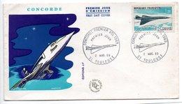 Enveloppe 1er Jour / Toulouse    / 1er Vol Concorde / 2 - 3 - 69 - FDC