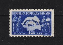 1948- RECENSEMENT  Mi No 1093 Et Yv No 1009 MNH - 1948-.... Republiken