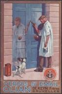 """Belgique - CP Neuve Publicitaire """" VERNIS ET EMAIL OLIAN - DE KEYN"""" Frères Bruxelles1927 - Chien (RD287)DC5801 - Advertising"""