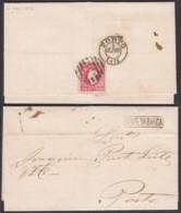 Portugal - LAC Yv.40 De PONTO DA BARCA Griffe Linéaire 04/12/1871 Vers PORTO (RD292)DC5806 - Briefe U. Dokumente