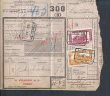 BELGIQUE DOCUMENT SUR TIMBRES CHEMIN DE FER TAMPON TIENEN X LIERRE : - Railway