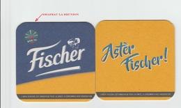Sous-bocks **neuf**, FISCHER Ile De LA REUNION Océan Indien.Biere Birra Cerveza Piwo Pils, Scan Recto/verso - Sous-bocks