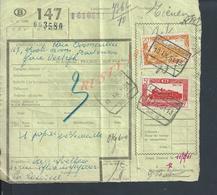 BELGIQUE DOCUMENT SUR TIMBRES CHEMIN DE FER TAMPON TIENEN X LA LOUVIERE : - Railway