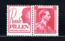 PU163 MNH 1941 - 1 Fr Roode Pillen (vrouw) - Publicités