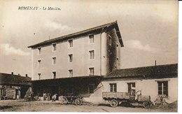 Saône Et Loire  ROMENAY Le Moulin (camion Au Premier Plan) - France