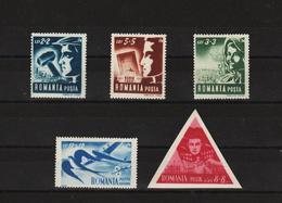 1948 - Union Des Jeunes Travailleurs Mi No 1101/1105 Et Yv No 1038/1041 + P.A. - Ungebraucht