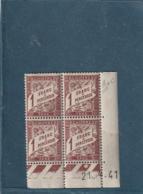 COINS DATE ///   Taxe N° 40A **  Millésime 1941 Côte 12€ - Esquina Con Fecha