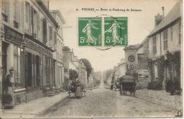 FISMES  -  Porte  Et  Faubourg  De  Soissons  /   Pub  Murale  :  Liqueur  Bénédictine,  Huile  Auto  Bougie  Oleo - Fismes