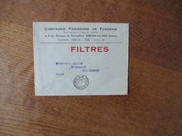 CACHET PARIS R.P. IMPRIMES P. P. 20. IX 1934 SUR LETTRE COMPAGNIE PARISIENNE DE FONDERIE CHOISY LE ROI 15 & 17 AVENUE DE - 1921-1960: Periodo Moderno