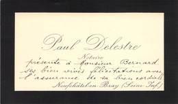 "CPA / CARTE DE VISITE FRANCE 76 ""Neufchatel En Bray, Notaire Paul DELESTRE"" - Neufchâtel En Bray"
