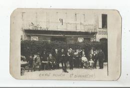 SAINT GIRONS (ARIEGE) CARTE PHOTO DU CAFE ROUCH 1910 - Saint Girons