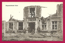 CPA Ornes - La Mairie En Ruines - Autres Communes