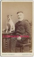 CDV-patriarche Et Son Chien-photo Arthur Nicholls à Sandown-Ile De Wight Royaume Uni - Old (before 1900)