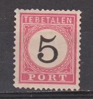 Nederlands Indie Dutch Netherlands Indies Port 6 Tanding B Type 2 MLH ; Portzegel Due Stamp Timbre Tax Dienstmarke 1882 - Niederländisch-Indien