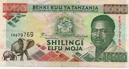 TANZANIA 1000 SHILINGI 1993 P-27 XF+ - Tanzania