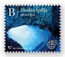 CROATIA 2020,NATURAL WONDERS OF THE REPUBLIC OF CROATIA, THE BLUE CAVE,ISLAND BISEVO,ADHESIV,SELBSTIK,MNH - Geology