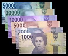 # # # Satz Banknoten Indonesien (Indonesia) 1.000 Bis 50.000 Rupiah UNC # # # - Indonesien