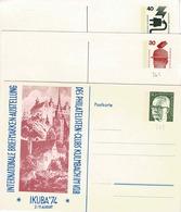 Entiers  Postaux De 30 Et 40Pf Sur 3 Cartes Postales Neuves ( 2 Scans) - Geïllustreerde Postkaarten - Ongebruikt