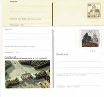 Entiers  Postaux De 30 Et 60 Pf Sur 2 Cartes Postales Neuves ( 2 Scans) - Geïllustreerde Postkaarten - Ongebruikt