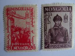 MONGOLIE - 2 TIMBRES 1931 (Mongols Apprenant L'alphabet Latin) - 1932 (Soldat) MNH++ Gomme D'origine Sans Charnière VOIR - Mongolia