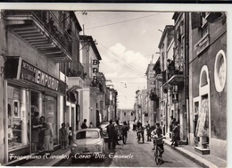 FRAGAGNANO TARANTO CORSO VITT. EMANUELE INSEGNE BAR E TABACCHI - CARTOLINA SPEDITA NEL 1964 - Italia