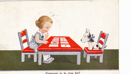 739/ Getekende Kaart, Gagnerai-je Le Gros Lot? Kind Met Hond, Speelkaarten 1938 - Cartes à Jouer