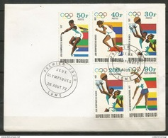 Togo 1972 Olympic Games Munich Set FDC - Summer 1972: Munich