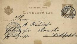 Entier  Postal Sur Carte Postale De Drasgo Pour Munster - Ungarn