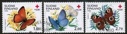 1990 Finland, Red Cross, Butterflies Complete Set FD-stamped. - Finland