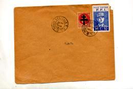 Lettre Cachet  Poste Speciale  F F I ? Sur Timbre Liberation De Gaulle Croix De Lorraine - Marcophilie (Lettres)