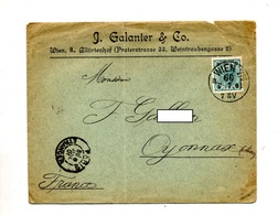 Lettre Cachet  Wien Sur Empereur + Paris - 1850-1918 Empire