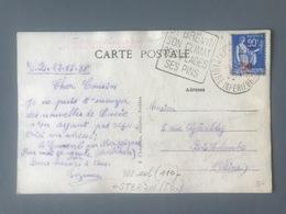 France N°482 Seul Sur Carte Postale - (B2771) - 1921-1960: Période Moderne