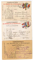 LOT DE 6 CARTES POSTALE  MILITARIA CORRESPONDANCE TOUTES SCANNEES - 5 - 99 Karten
