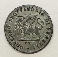 Venezia Venice Governo Provvisorio 15 Centesimi 1848 D.673 - Regional Coins