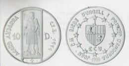 ANDORRA 1 MONEDA DE 31,47 GRAMOS DE PLATA Nº 94  TIRADA2 5.000.  SERVEI D'EMISSIÓNS  (E.M. - Andorra