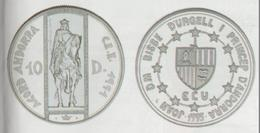 ANDORRA 1 MONEDA DE 31,47 GRAMOS DE PLATA Nº 102  TIRADA2 5.000.  SERVEI D'EMISSIÓNS  (E.M. - Andorra