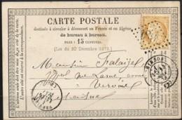 Carte  Du 14/05/1874 De  Hirson (02) GC 1802 - 1849-1876: Période Classique