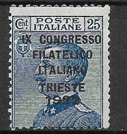 Italy - Italia -  Congresso Filatelico Italiano Trieste 1922 - Ungebraucht