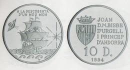 ANDORRA 1 MONEDA DE 31,104 GRAMOS DE PLATA Nº 97  TIRADA  20.000.  SERVEI D'EMISSIÓNS  (E.M. - Andorra
