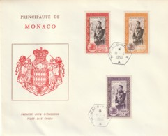 FDC Monaco Prince Rainier III  11-4-1950 - FDC